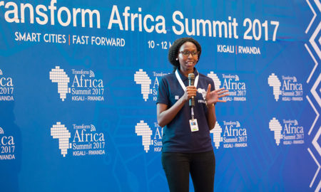 Waiganjo presenting her project.