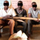 The three suspects at Nebbi Central Police Station. Ronnie Layoo.