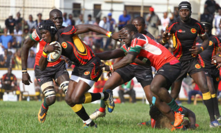 Phillip Wokorach in Action against Kenya at Legends rugby grounds
