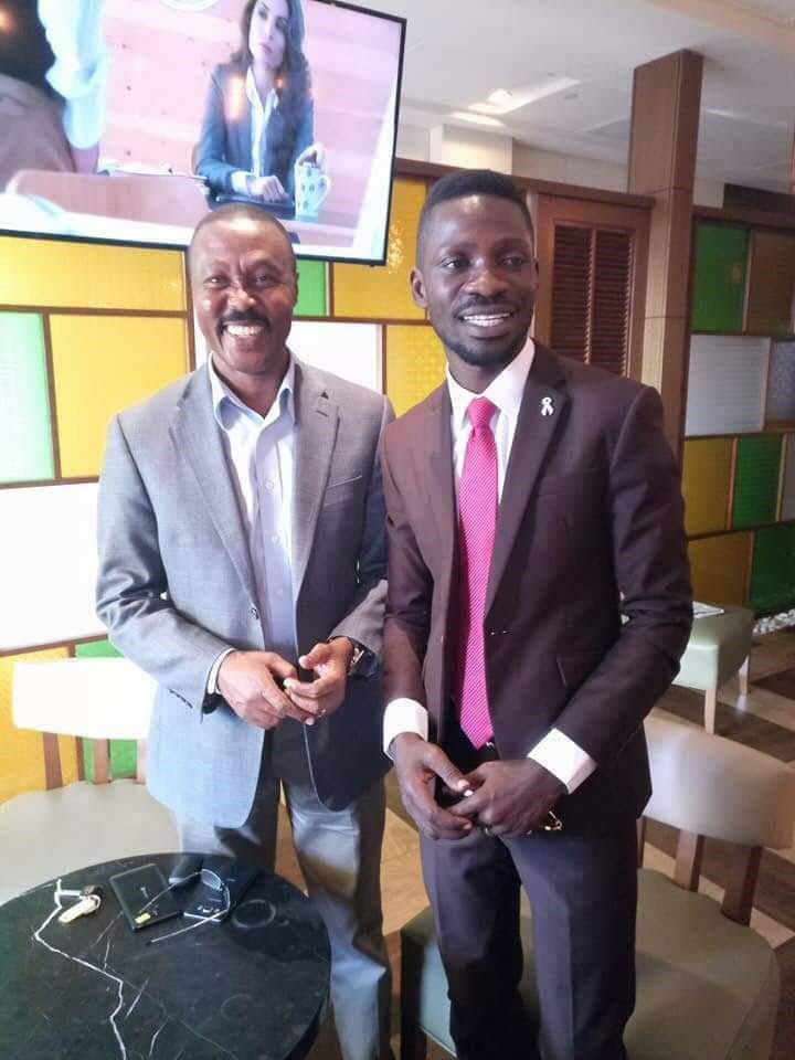 Gen. Muntu met Kyaddondo East MP, Robert Ssentamu Kyagulanyi aka Bobi Wine, ahead of his major pronouncement on Wednesday.