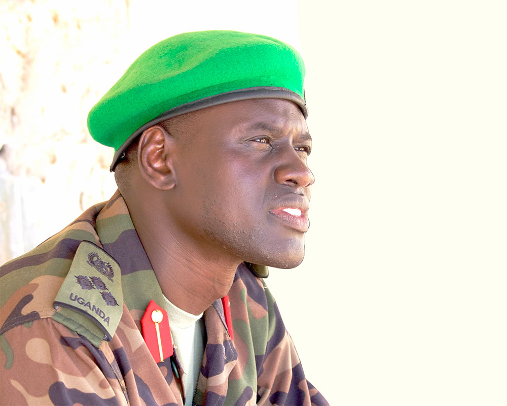 Brig.Paul Lokech, the new Contingent Commander of the UPDF serving under the African Union Mission in Somalia.