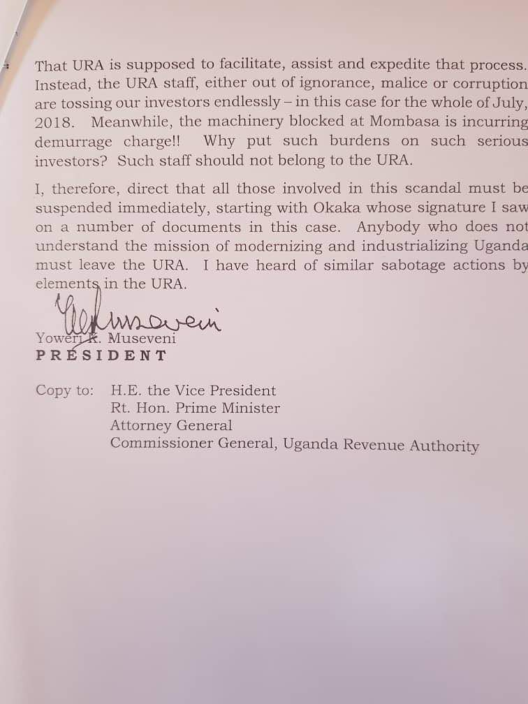 Angry Museveni Orders Sacking Of Ura Officials Over