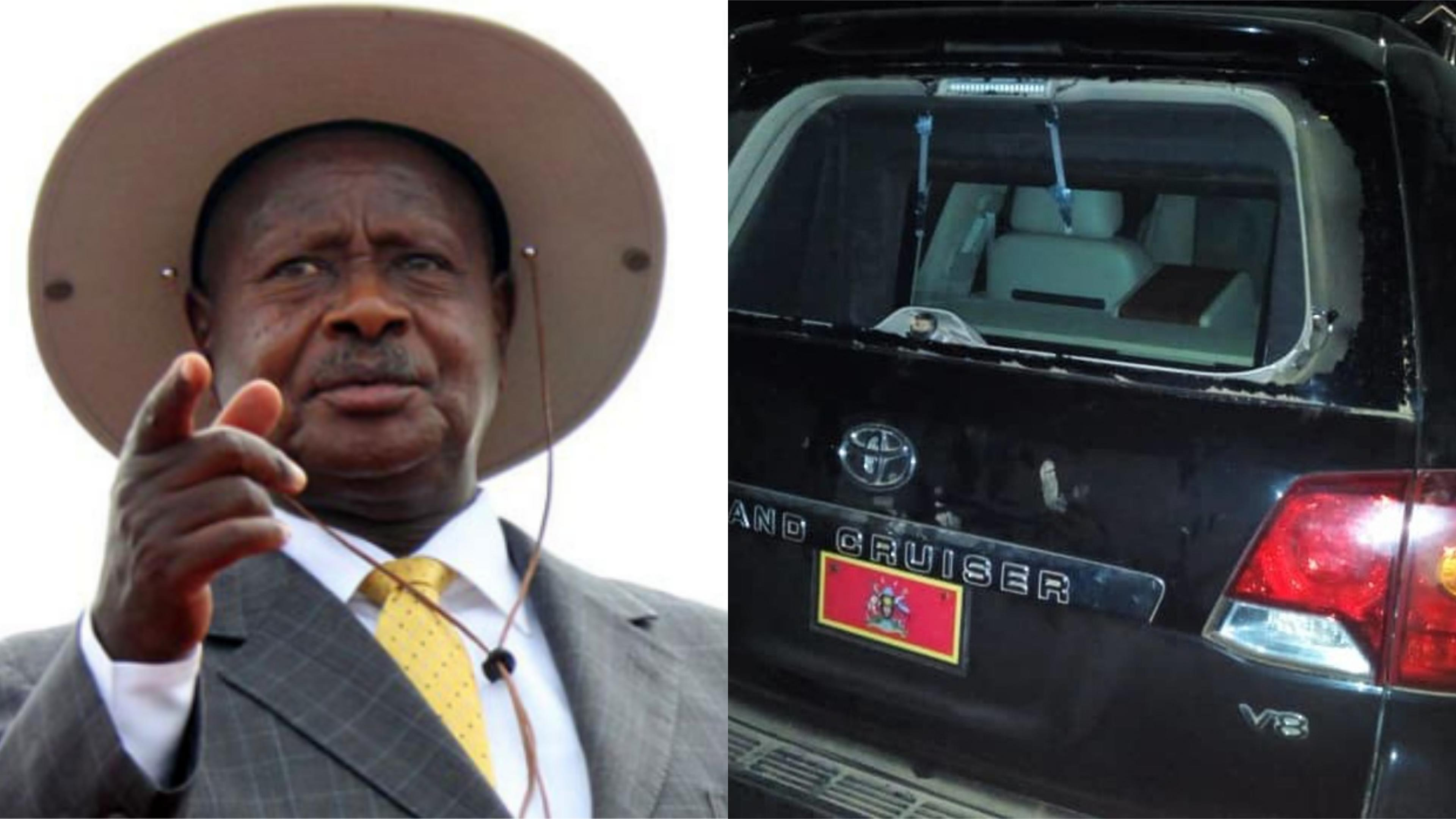 President Museveni has revealed that Opposition supporters pelted the car he was moving in with stones, resulting in violence that saw several MPs arrested and one person shot dead. (FILE PHOTO)