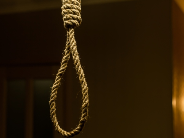 hangs himself