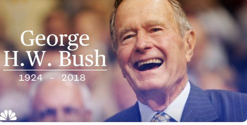 Putin expresses condolences over death of George HW Bush