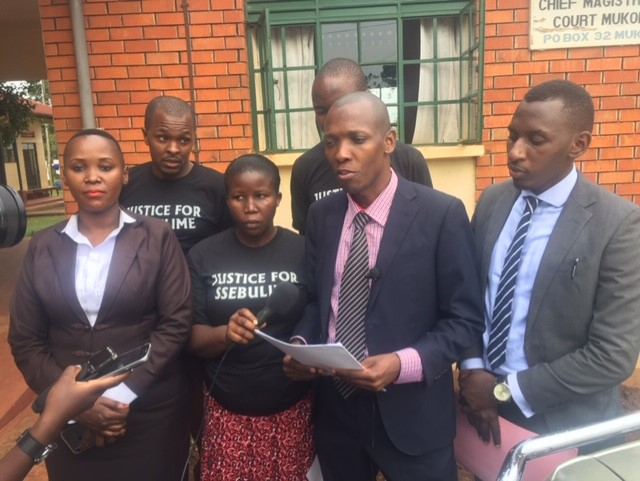 The family of Late Ssebulime in the company of their lawyer have filed a lawsuit against ICT State minister Idah Nantaba and other 3 Police officers for filing wrong information to the authorities (PHOTO/File)