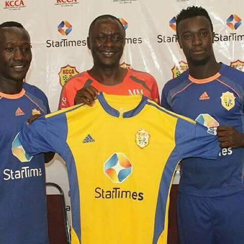 Saddam Juma (R) was poached from Express FC last week and is eligible to play the Caf tie.