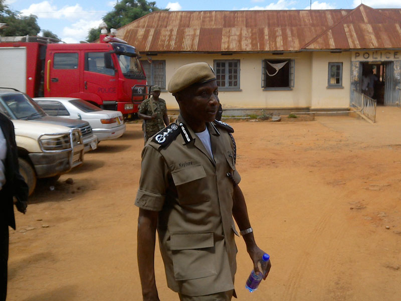 Former IGP Kale Kayihura (TOP) and President Museveni camped in the area to spearhead the operation against the assailants that were terrorising residents