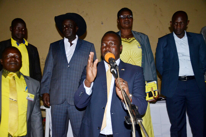 Todwong addresses NRM leaders in Upper Madi.