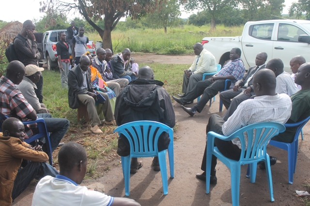 One of the meeting with Gulu district leaders, RDC and Balaalo and Community of Palaro in Gulu district last year