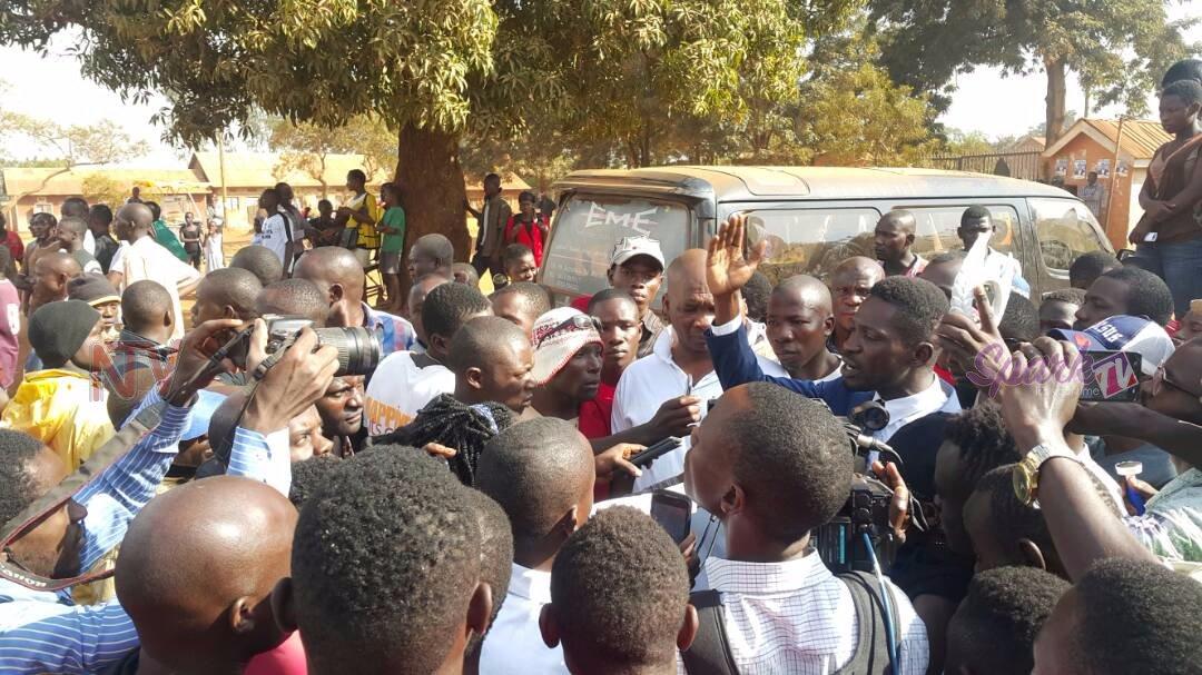 Candidate Robert Kyagulanyi at a recent rally Courtesy photo.