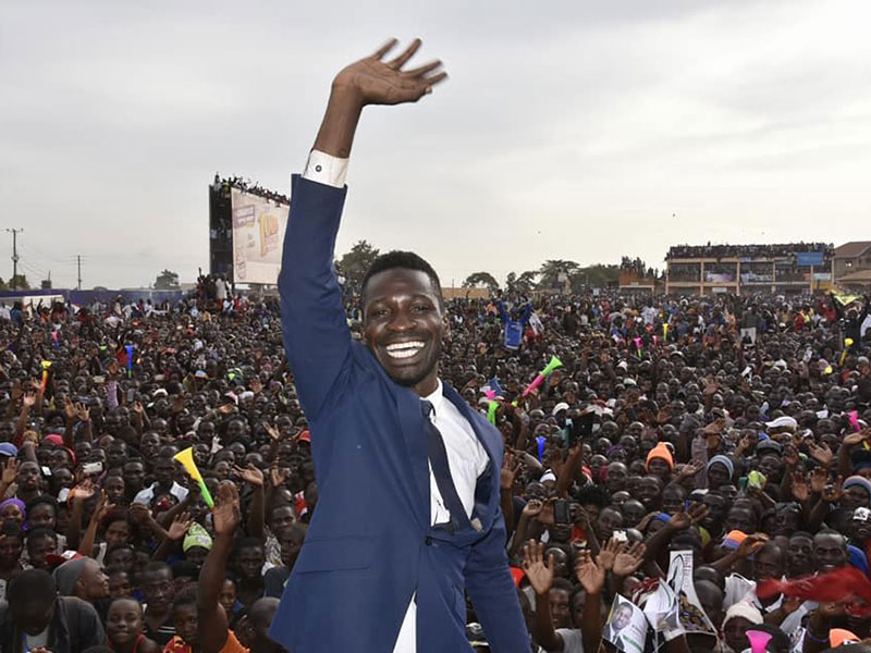 Bobi Wine has been voted Africa New  Personality of the Year 2018. (FILE PHOTO)