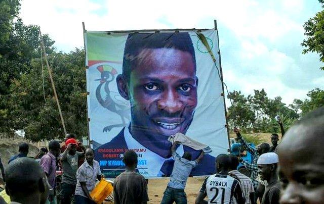 Bobi Wine's supportes head to the campaign venue. Courtesy photo.