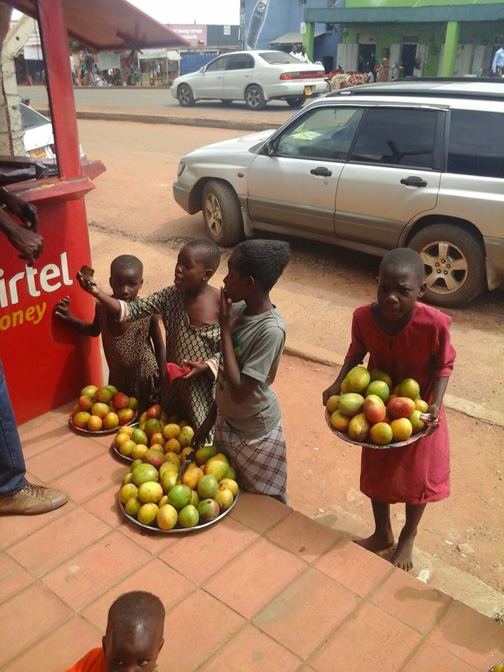 School children vending mangoes in Iganga town. Courtesy photo