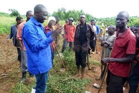 Mutabaazi with Lwengo residents