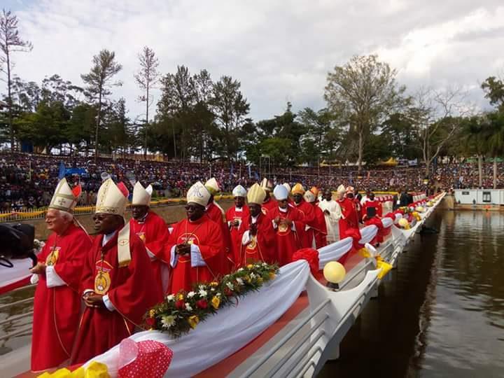Catholic bishops during Martyr's Day in Namugongo. Courtesy photo