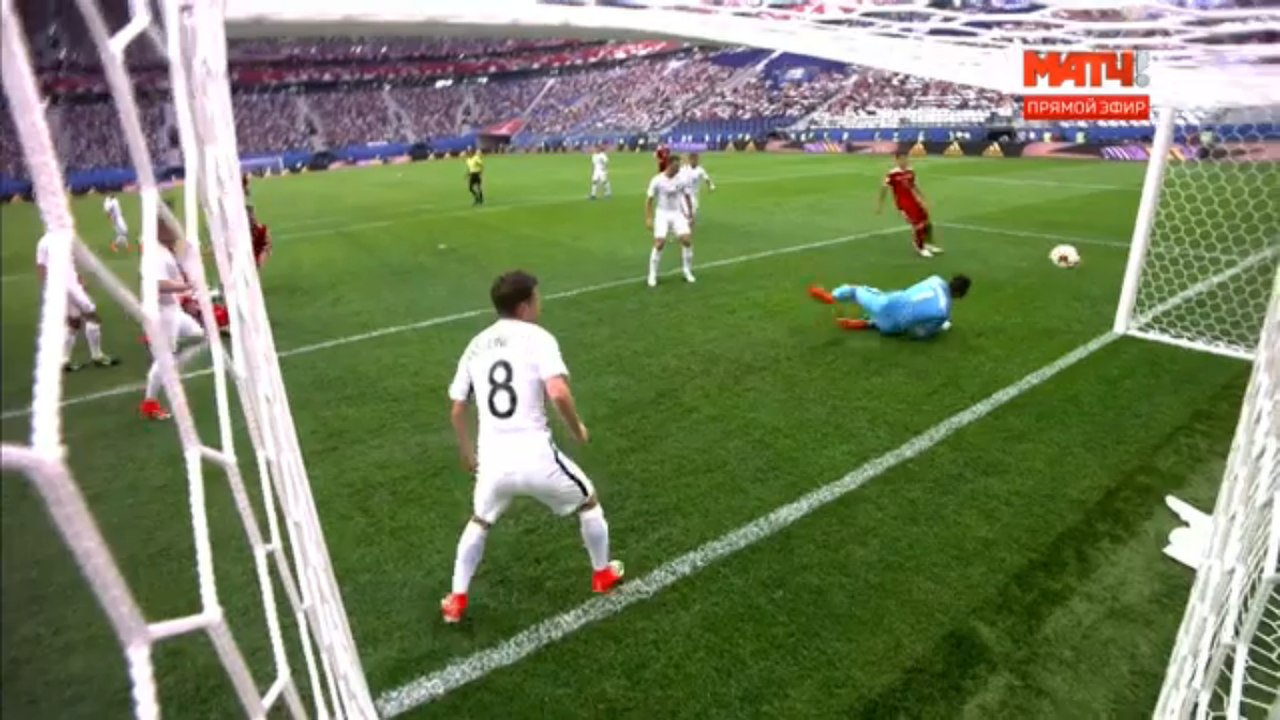 Russia scores against New Zealand