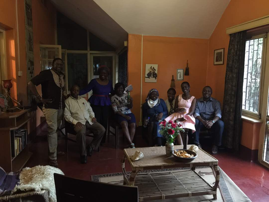 Family and friend at the farewell party for the revered law prof Frederick Jjuuko. Courtesy photo.