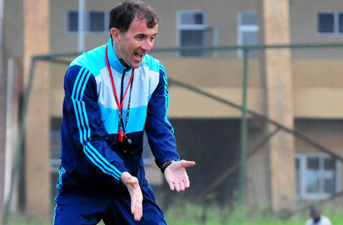 Micho in action during one of Uganda Cranes encounters. Courtesy photo.