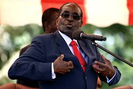 Zimbabwean president Robert Mugabe speaks at a past function. Coutesy photo.