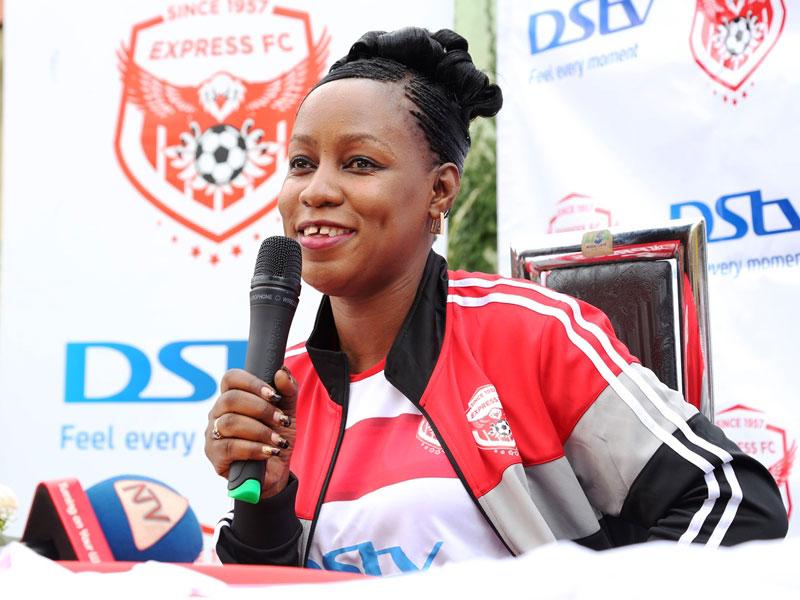 Minister of State for Youth and Children Affairs, Florence Nakiwala Kiyingi, addresses the press  (PHOTO: AfunaDixy)