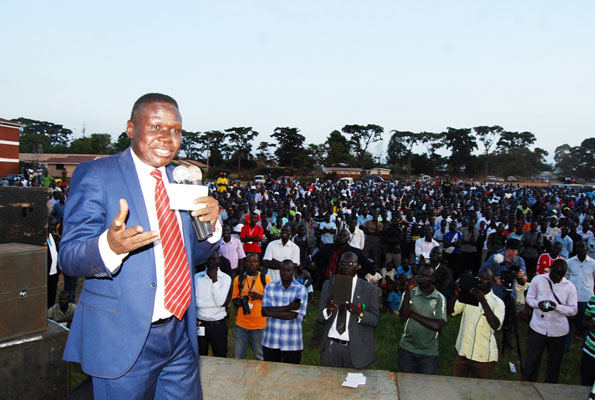 DP president Nobert Mao addressing supporters at a past event. Courtesy photo.