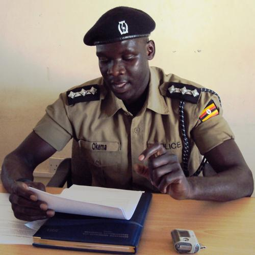 Aswa Police Public Relation Officer Patrick Jimmy Okema addressing press at NUMEC media center-Gulu  during a weekly press meeting. Courtesy photo.