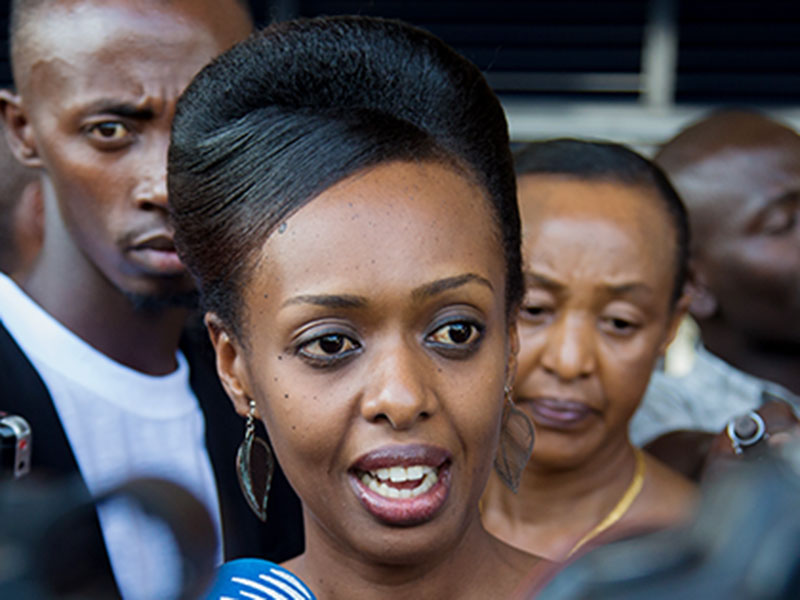 The trial of Rwanda's leading dissident politician, Diane Rwigara, has opened with a demand from prosecutors that she be sentenced to 22 years (FILE PHOTO)