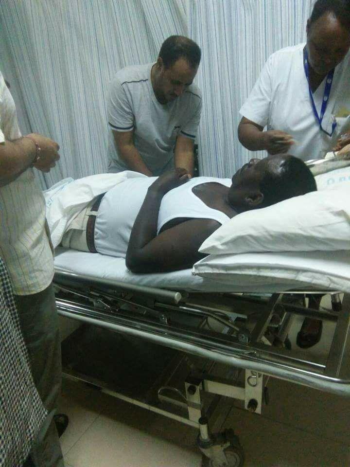 Raila Odinga on his hospital bed. Courtesy photo.