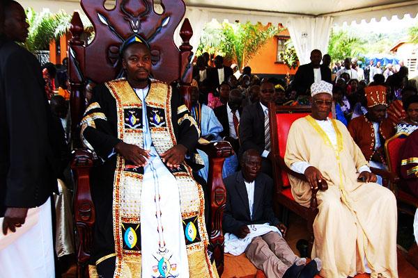 The Kyabazinga of Busoga, William Gabula Nadiope IV at his coronation ceremony in 2015.