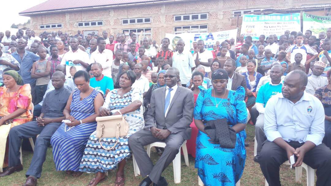 Amuriat Oboi at Maryam Nantale's rally in Iganga. PML Daily photo.