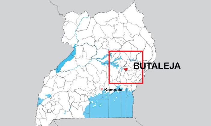 A map showing the location of Butaleja. Courtesy photo.