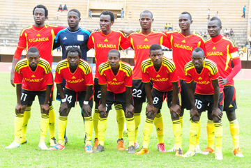 The Cranes team that was held to a 2-2 draw by Azam FC. Courtesy photo.