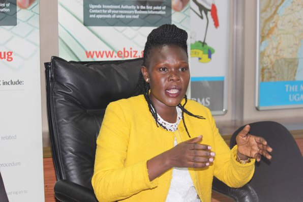 Investments Minister Evelyne Anite Ms Anite attempted o compel the administrator, Mr Bemanya Twebaze to handover UTL to Mauritius Telecom, arguing that its credibility following the clearance from the Financial Intelligence Authority.(FILE PHOTO)