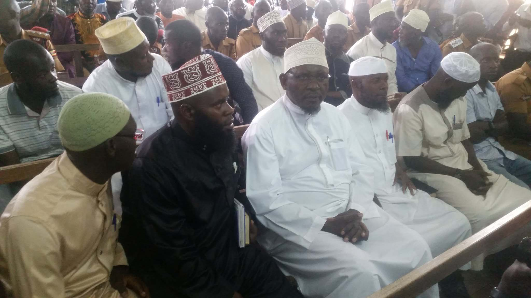 Sheikh Kamoga and co-accused in court on Monday, August 21. PML Daily photo.