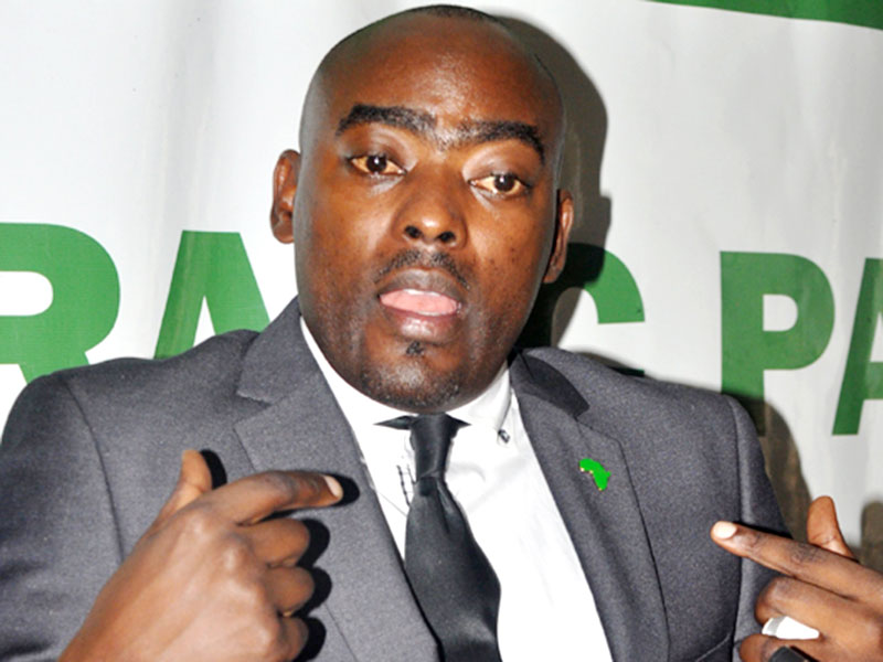 DP's national vice chairman, Fred Mukasa Mbidde, while launching his campaign program (PHOTO/Courtesy)