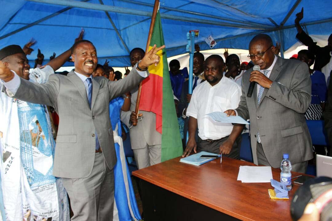Maj. Gen. Muntu works the crowd at his nomination last week. PML Daily Photo.