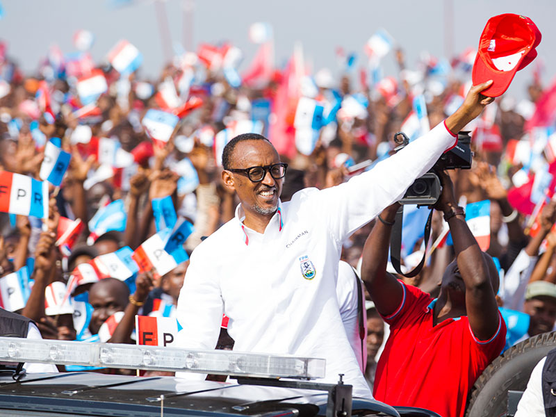 kagame at his final rally in Kigali.