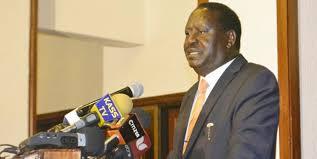 Raila Odinga speaks at a past event. Courtesy photo.