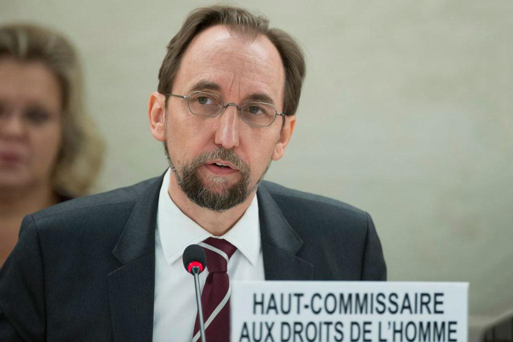 Zeid Ra'ad Al Hussein, United Nations, High Commissioner for Human Rights at a 35th Session of the Human Rights Council. 6 June 2017. UN Photo / Jean-Marc Ferré