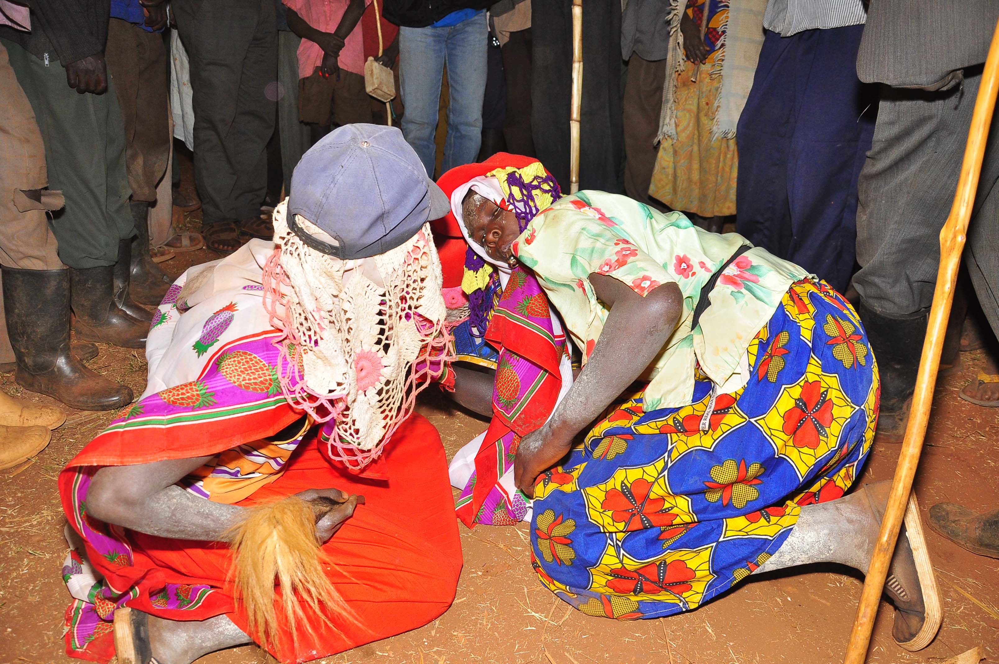 Teenage girls take part in a traditional dance moments before they are subjected to FGM in Bortek village, Bukwo District. Police in Kween is holding 18 people for engaging in the act that was gazetted as criminal in 2010 (FILE PHOTO)