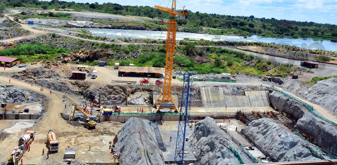 Works ongoing at the nearly complete Karuma Hydro-electricity Power Plant in northern Uganda. Courtesy picture.