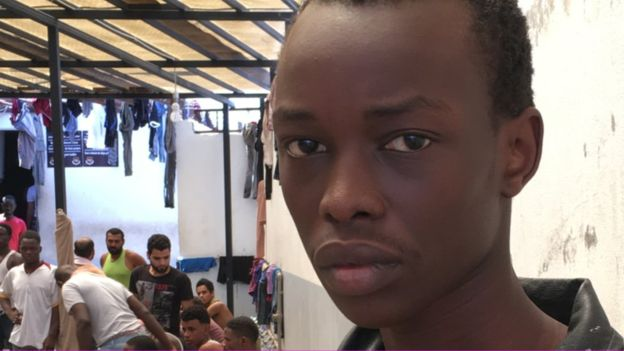 Henessy Manjing is lost in Libya. His dreams of returning to London remain but a dream. BBC photo.