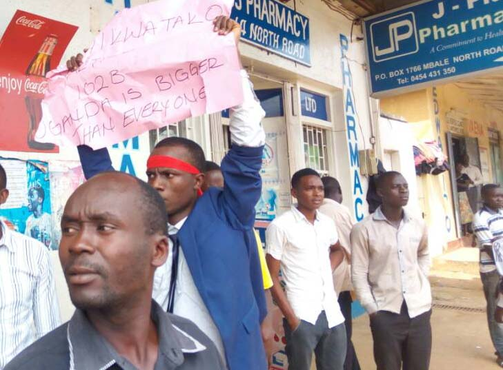 Business in Mbale town was paralysed as residents protested the intended removal of the Presidential age limit.