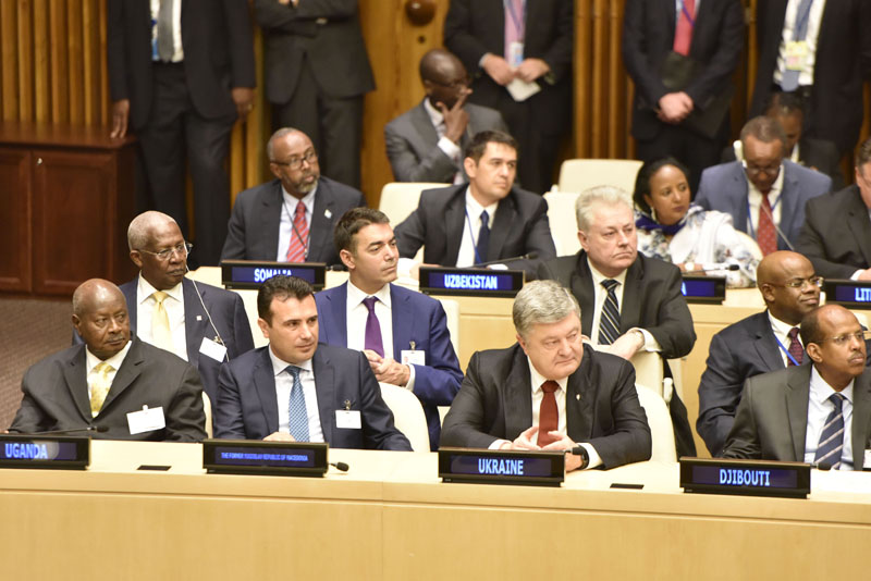 President Museveni (L) and other world leaders attending a conference on political declaration on UN reforms which was addressed by President Donald Trump (not in picture) of the United States and held at the ECOSOC cmyk.jpg