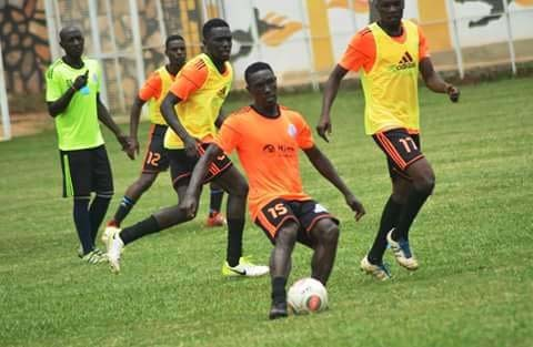 Vipers SC players in a past training session. Photo by Shaban Lubega.