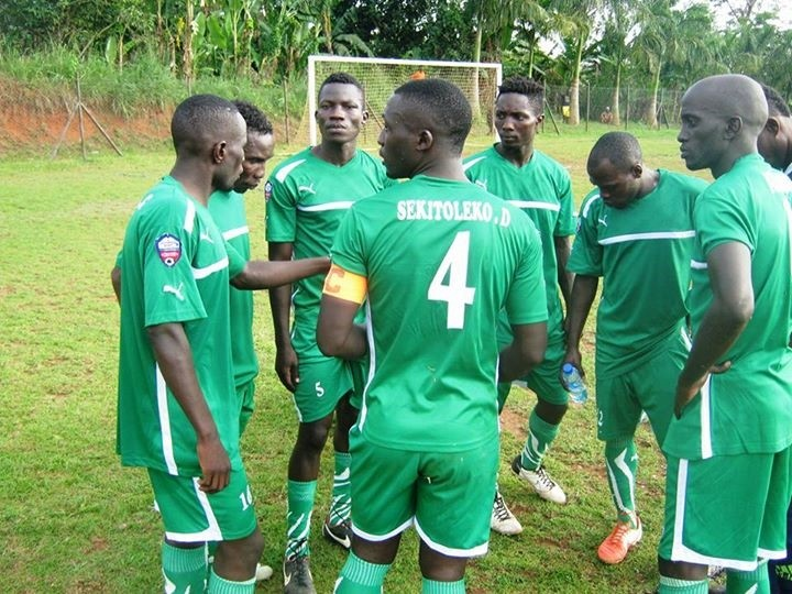 UPDF FC players share a moment during a recent friendly. Courtesy photo.