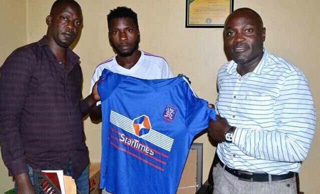 SC Villa CEO Vally Mugwanya(right) came out and trushed claims that it was Villa fans who acted like hooligans in the loss away to Vipers.