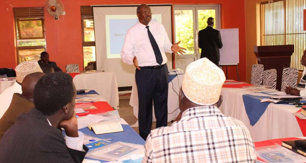 One of the trainers takes participants through alternative dispute resolution mechanisms. Courtesy photo.