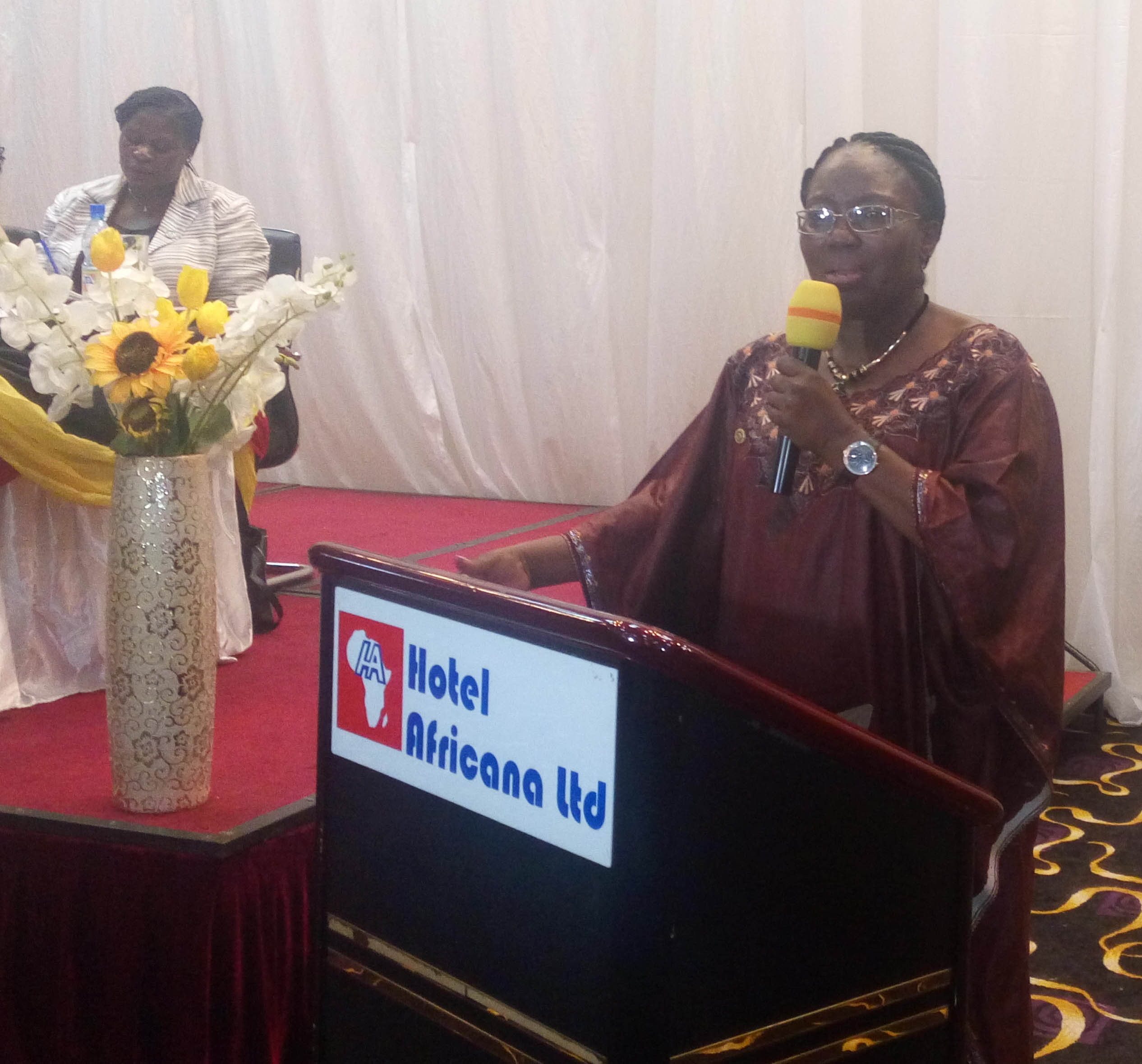 Speaker Rebecca Kadaga addresses the forum
